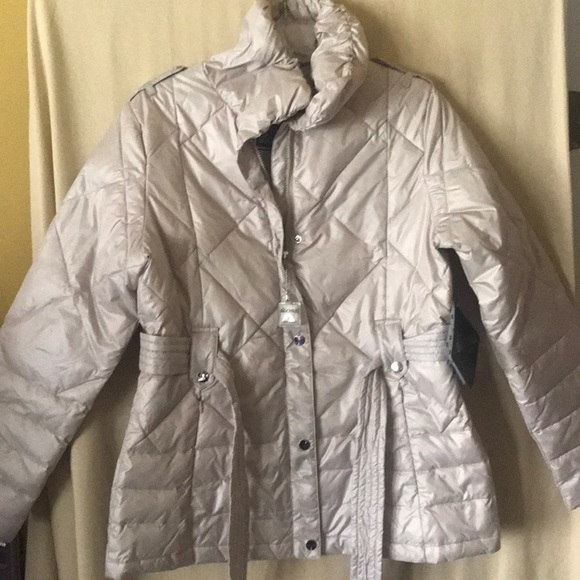 Big Chill Womens Belted Zig-zag Quilted Coat